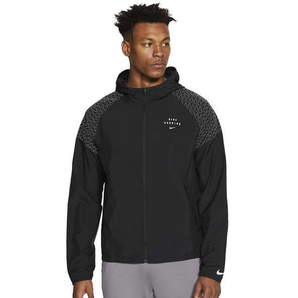 Nike Mens Run Dvn Ess Jacket Flash Black