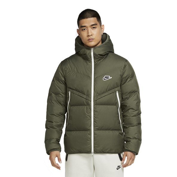 Nike Swoosh Men's Hooded Jacket Green