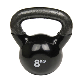 Fitness Mad Kettlebell 8Kg Black