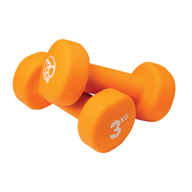 Fitness Mad 3Kg Neoprene Dumbbells Orang