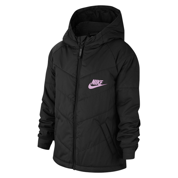 Nike Swoosh Filled Girls' Full Zip Jacket - Black