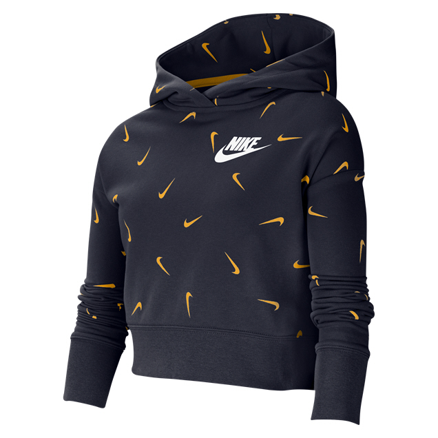 Nike Girl Swoosh Crop Hoody Navy