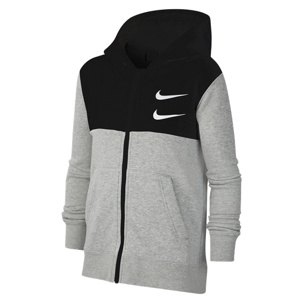 Nike Boys Swoosh Full Zip Grey