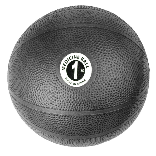 Fitness Mad 1kg PVC Medicine Ball, Black