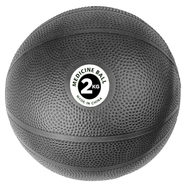 Fitness Mad 2kg PVC Medicine Ball, Black