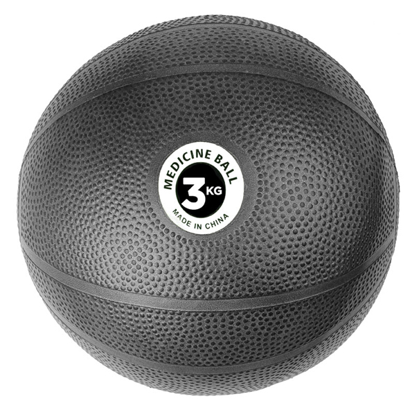 Fitness Mad 3kg PVC Medicine Ball, Black