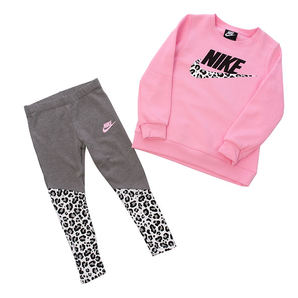 Nike Fleece Tunic Legging Girls' Set Grey