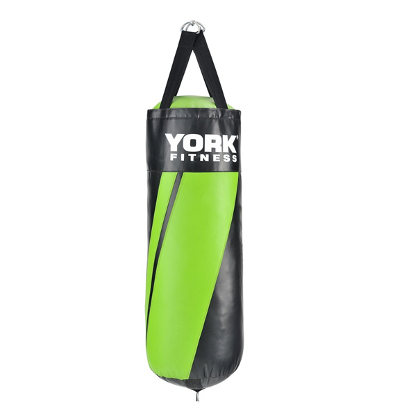 York Tethered Punch Bag - 3FT, Black/Green