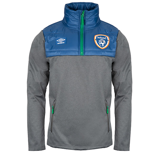 Umbro FAI 20 Padded Quarter Zip Hybrid Jacket Grey