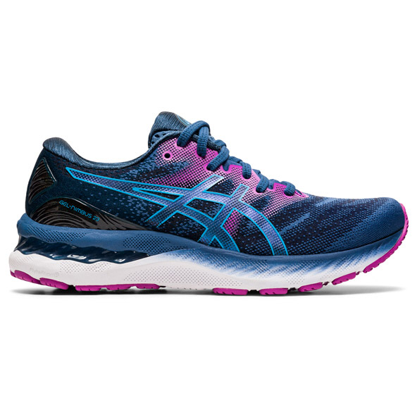 Asics Gel-Nimbus 23 Wide Women's Running Shoe Blue