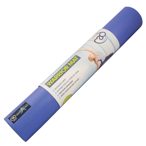 FM Warrior Yoga  Mat 4mm Blue