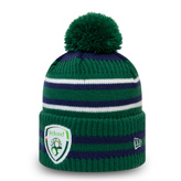 New EraFAI Cuff Knit Bobble Green / Navy