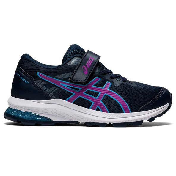 Asics GT-1000 10 Jnr Girls Running Navy