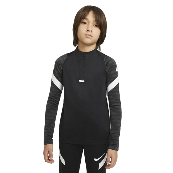Nike Dri-FIT Strike Kids' 1/4-Zip Soccer Drill Top Black