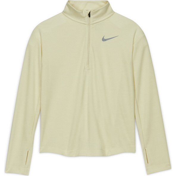 Nike Run Girls' ½ Zip Top White