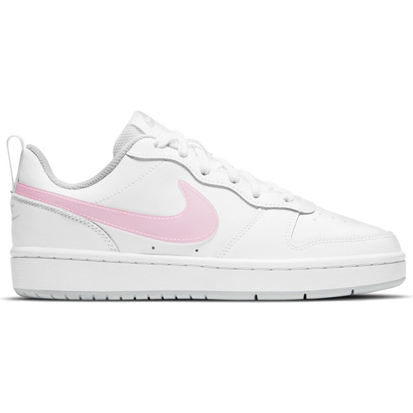 Nike Court Borough Low 2 Girls' Run Shoe, White