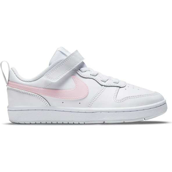 Nike Court Borough Low 2 Junior Girls' Run Shoe, White