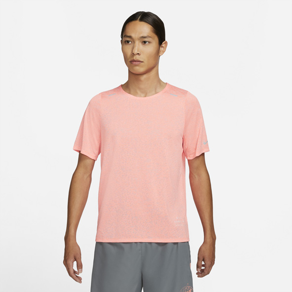 Nike Run Rise 365 Men's Running T-Shirt Orange