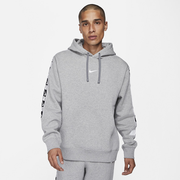 Nike Swoosh Repeat Men's Fleece Hoody Grey