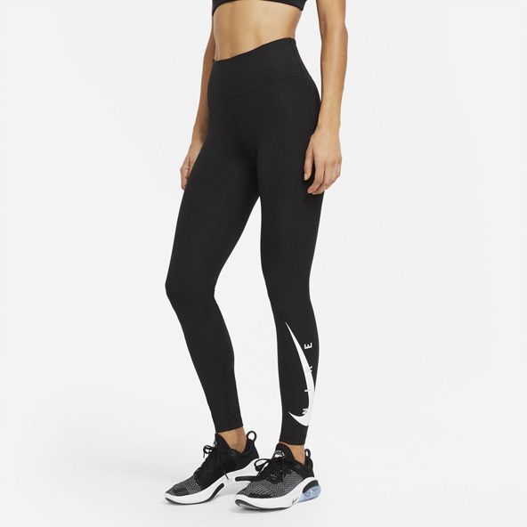 Nike Wmns Swoosh Run Tight 7/8 Black