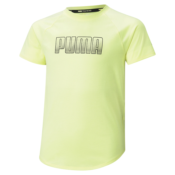 Puma Girls' Runtrain T-Shirt Yellow