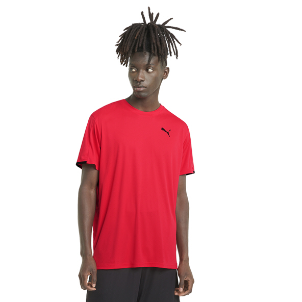Puma Train Graphic Short Sleeve Men's T-Shirt, Red