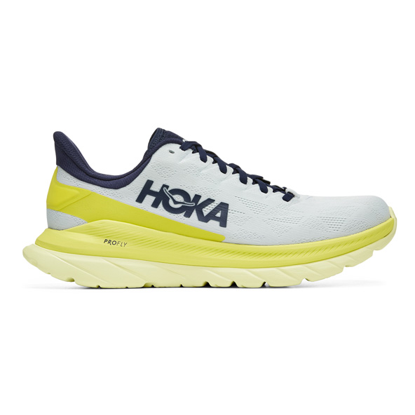 Hoka Mach 4 Women's Running Shoe White/Yellow