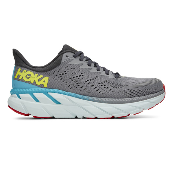 Hoka Clifton 7 Mens Run Grey/White