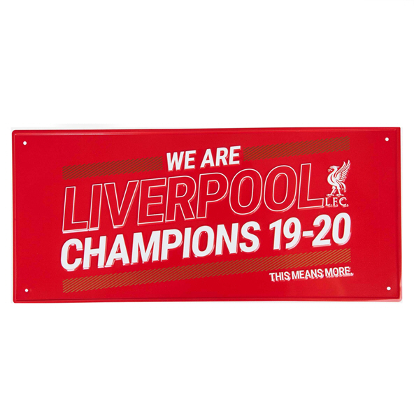 FOCO LFC 19-20 Champions Street Sign Red