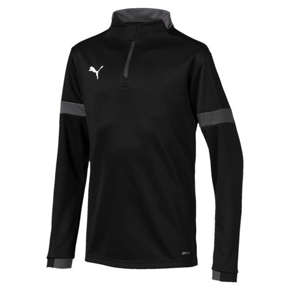 Puma ftblPLAY Boys' ¼-Zip Top, Black