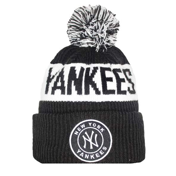 New Era NY Yankees 20 Bobble Beanie Blck