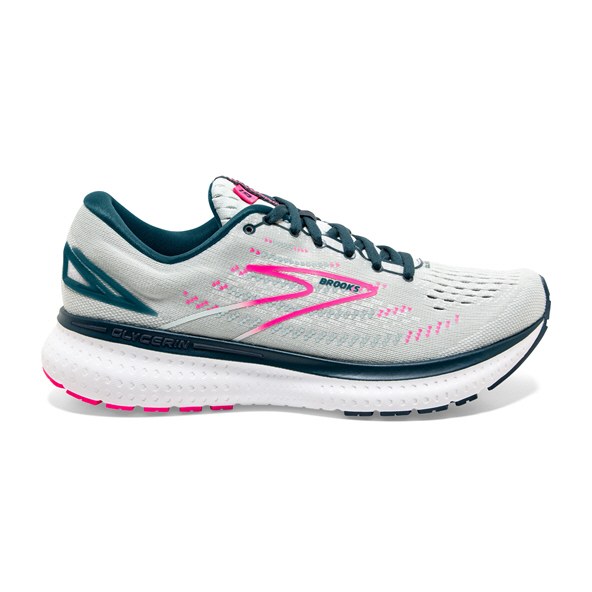 Brooks Glycerin 19 Women's Running Shoe White/Pink