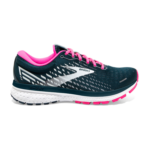 Brooks Ghost 13 Women's Running Shoe, Reflective pond/Pink/Ice