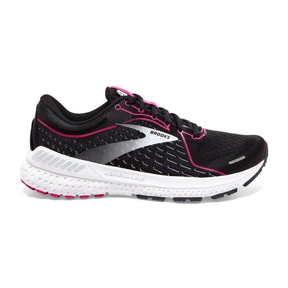 Brooks Adrenaline GTS 21 Wide Women's Running Shoe Black / Pink
