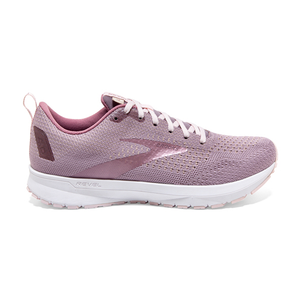 Brooks Revel 4 Women's Running Shoe, Almond/Pink