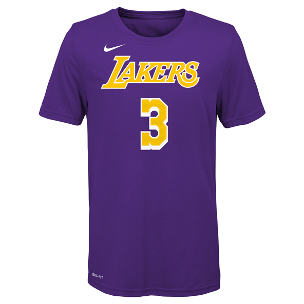 Nike Lakers Davis Kids Tee Purple