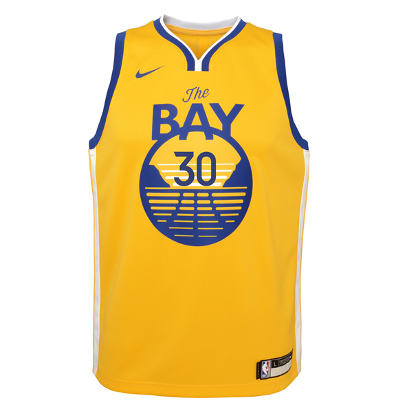 Nike Warriors Curry Kids Jersey Yellow