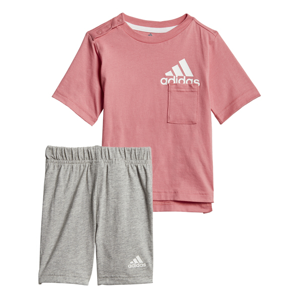 adidas Infant Girls' BOS Set Pink