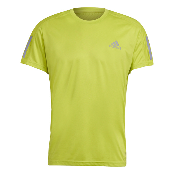 adidas Mens Own The Run Tee Yellow