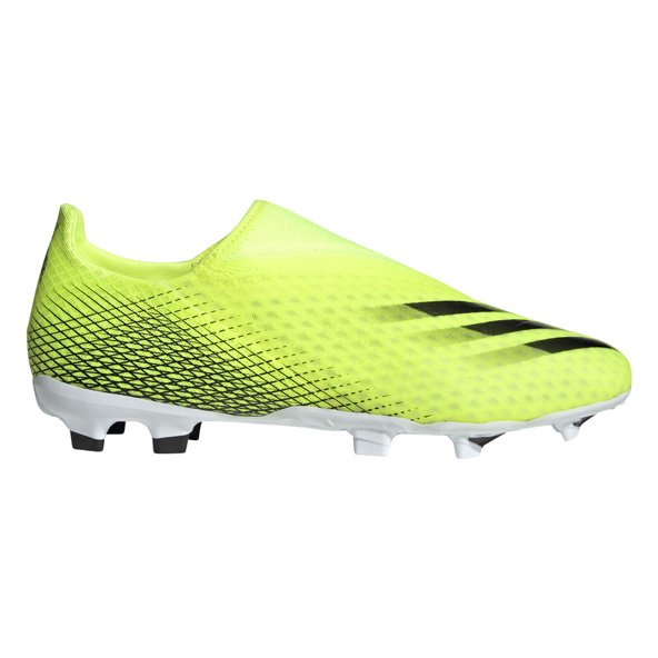 adidas X GHOSTED.3 Laceless Firm Ground Football Boots Yellow