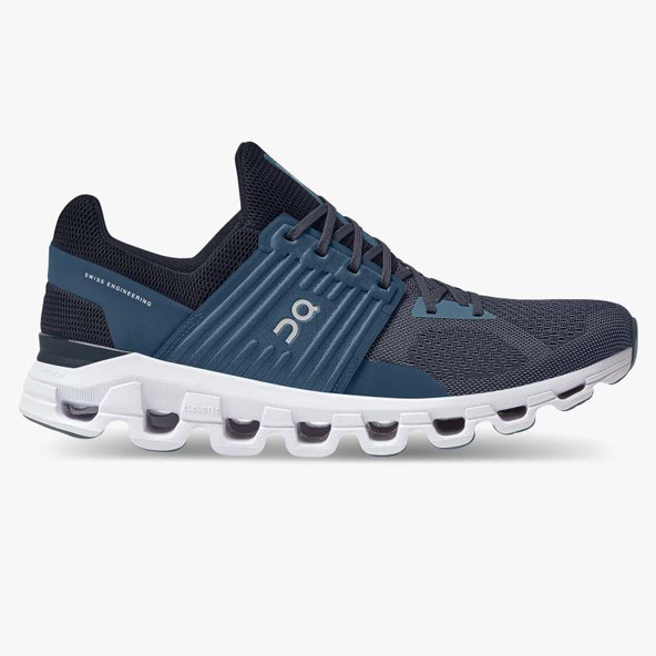 ON Cloudswift Men's Running Shoe, Denim/Midnight