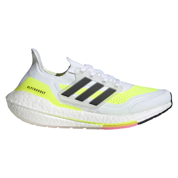 adidas Ultraboost 21 Women's Running Shoe, White / Black