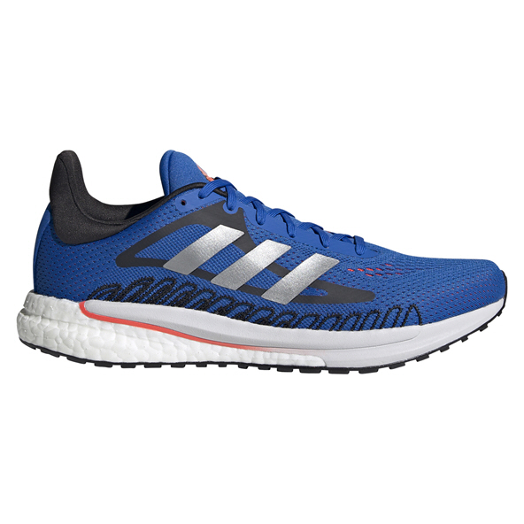 adidas Solar Glide M Men's Running Shoe, Black/Blue