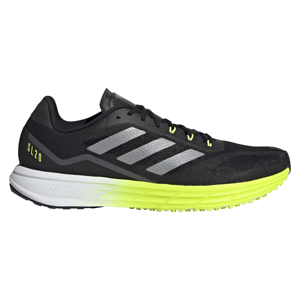 adidas SL20 M Men's Running Shoe, Black/Yellow