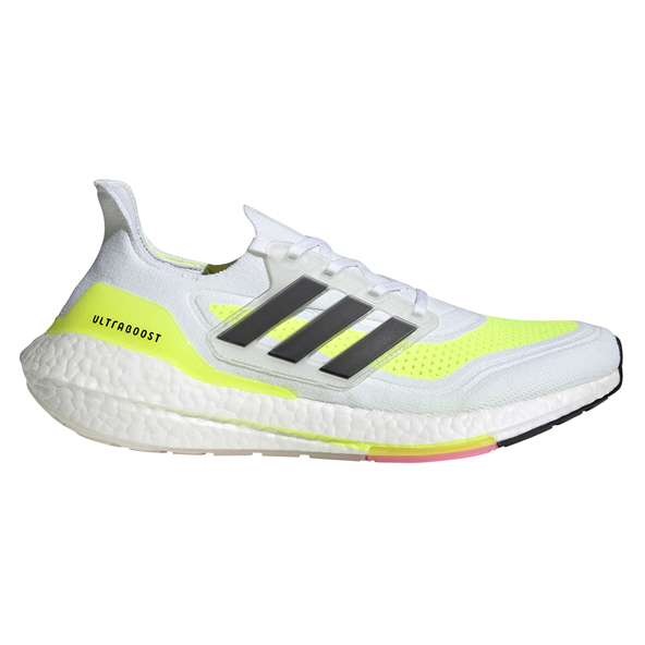 adidas Ultraboost 21 Men's Running Shoe, White/Black