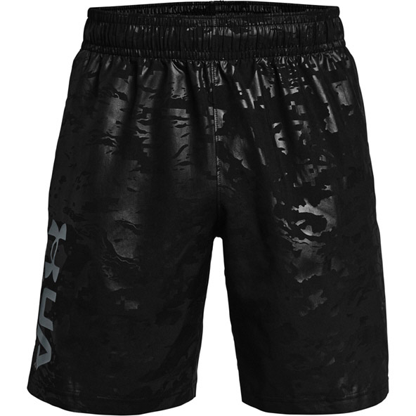 UA Mens Woven Emboss Short Black