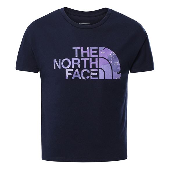 The North Face Girls' Short Sleeve ON T-Shirt Navy
