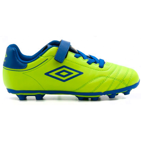 Umbro Classico VIII Junior Hard Ground Football Boot  Lime/Royal
