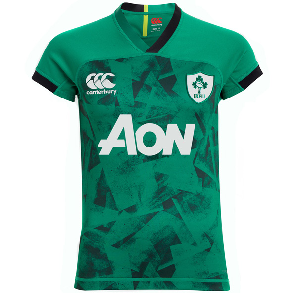 Canterbury IRFU 2020 Women's Home Jersey Kids, Green