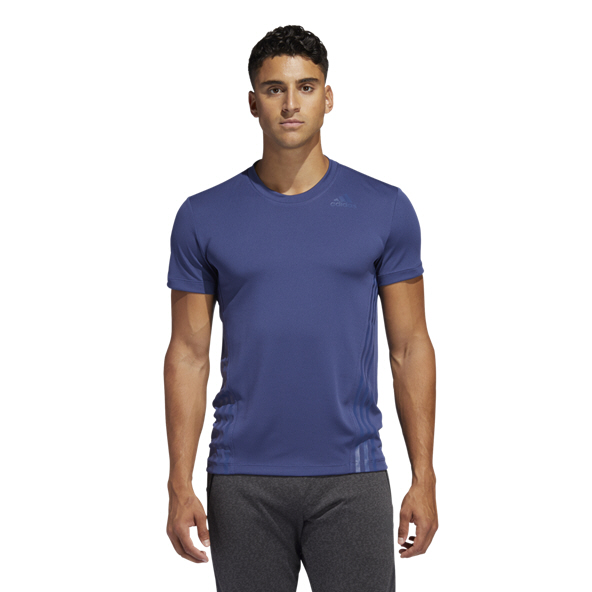 adidas Aeroready 3-Stripe Men's T-Shirt, Blue